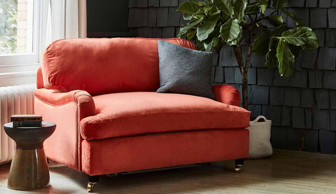 Product photograph showing Helston Loveseat Sofa