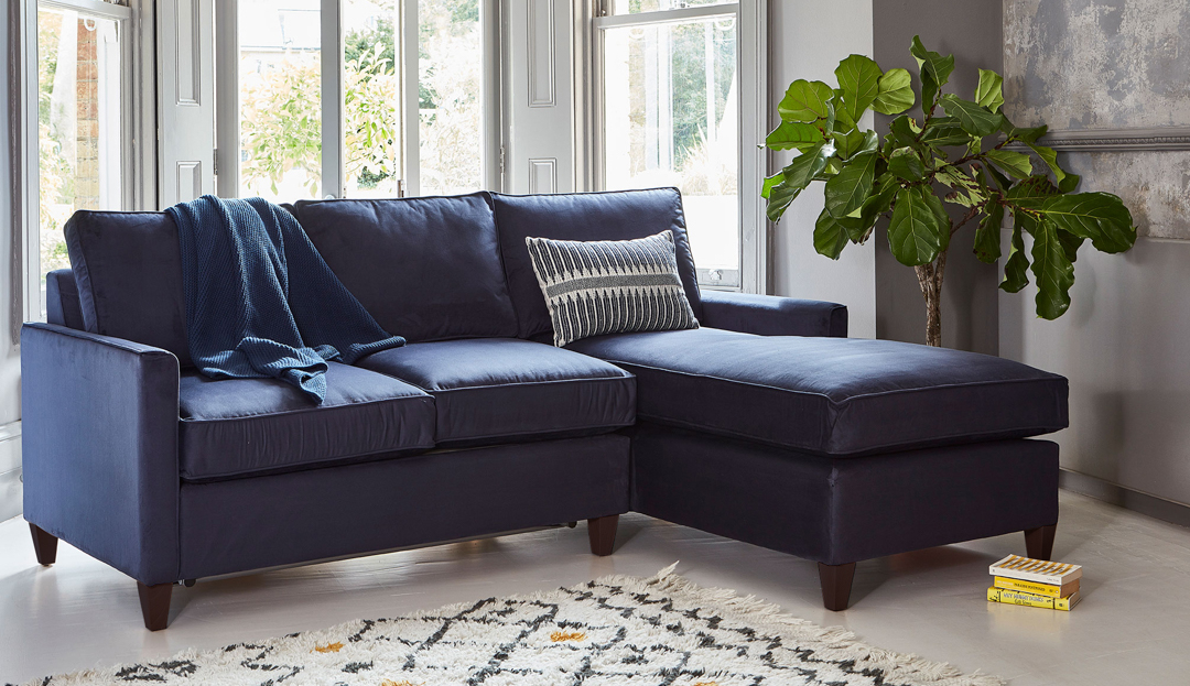 Product photograph showing Hayes 2 Seater Chaise Sofa Bed
