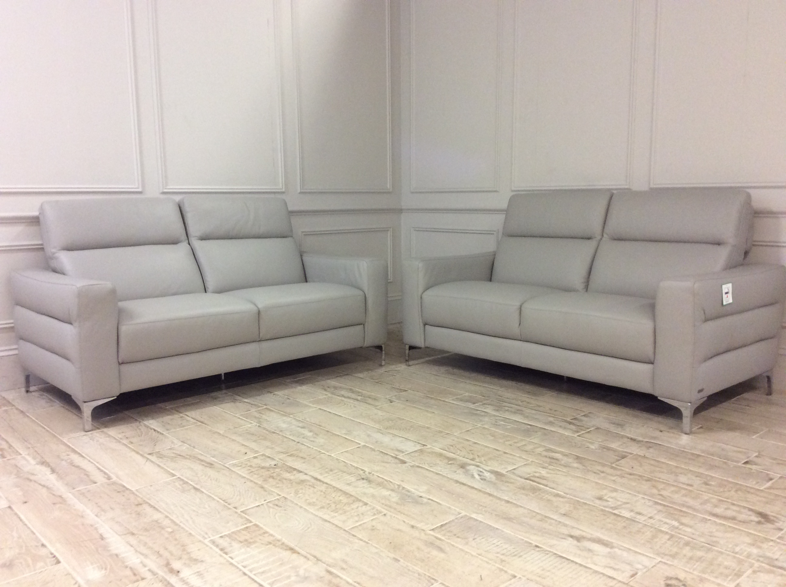 Product photograph showing 2 X Orlando 2 Seater Sofas In 10bz