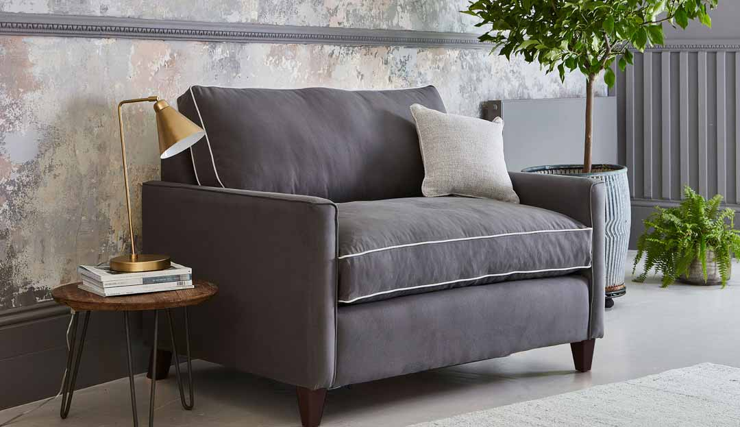 Product photograph showing Hayes Loveseat Sofa Bed