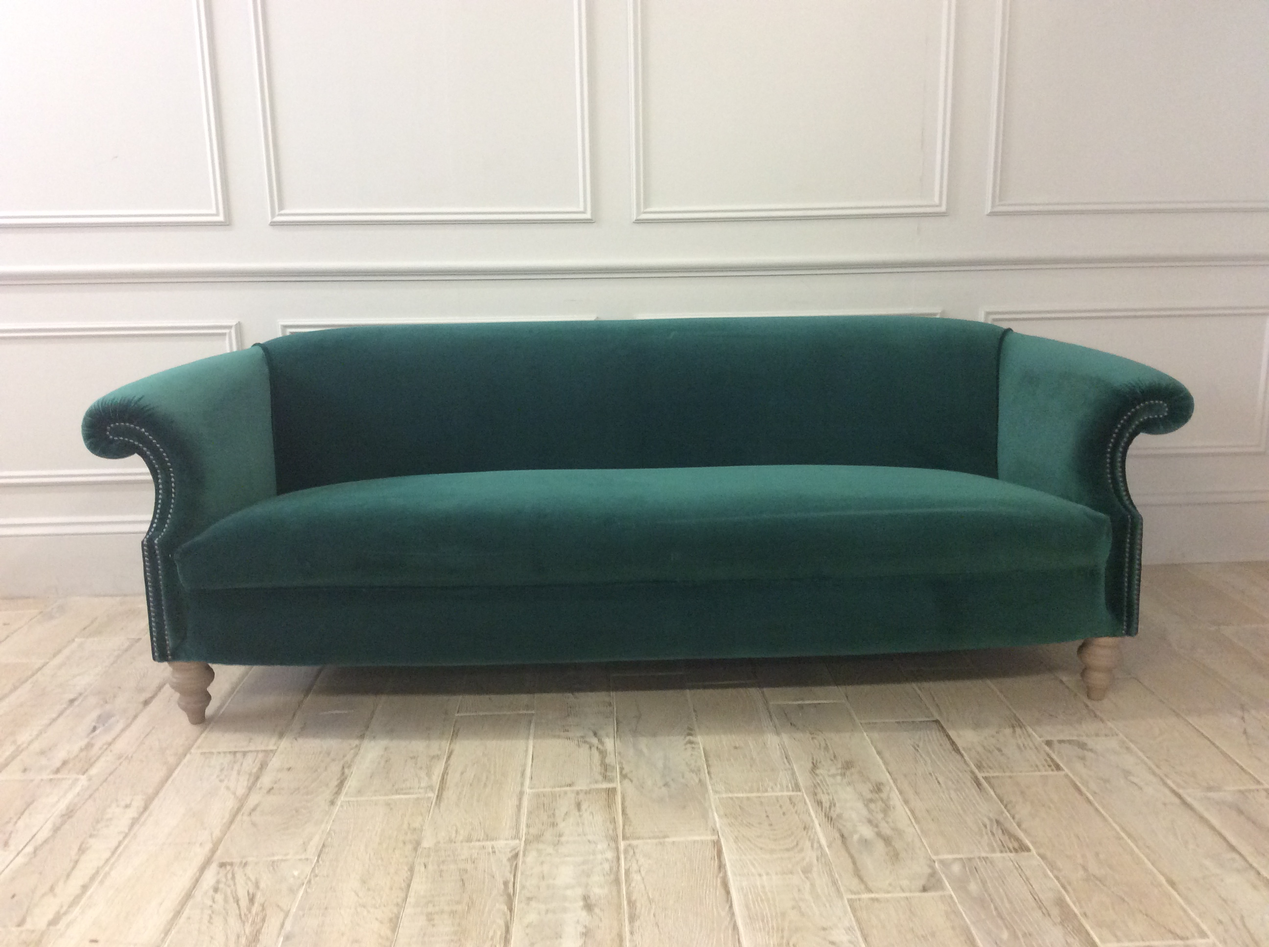 Product photograph showing Melrose Grand Sofa In Oscar Velvet Teal Green