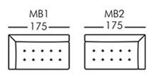 Morellia Modular 2 Seater Sofa Unit With 1 Arm