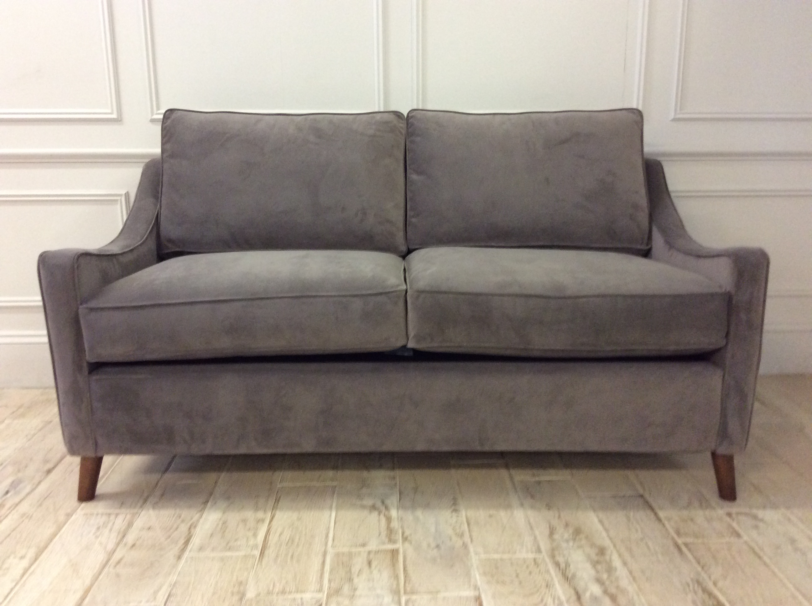 Product photograph showing Weymouth 3 Seater Sofa Bed In Easy Clean Plush Velvet Liver
