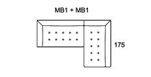 Morellia Modular 3x1 Right Sided Corner Sofa