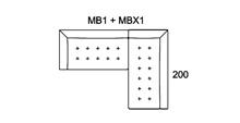 Morellia Modular 3x2 Seater Right Sided Corner Sofa