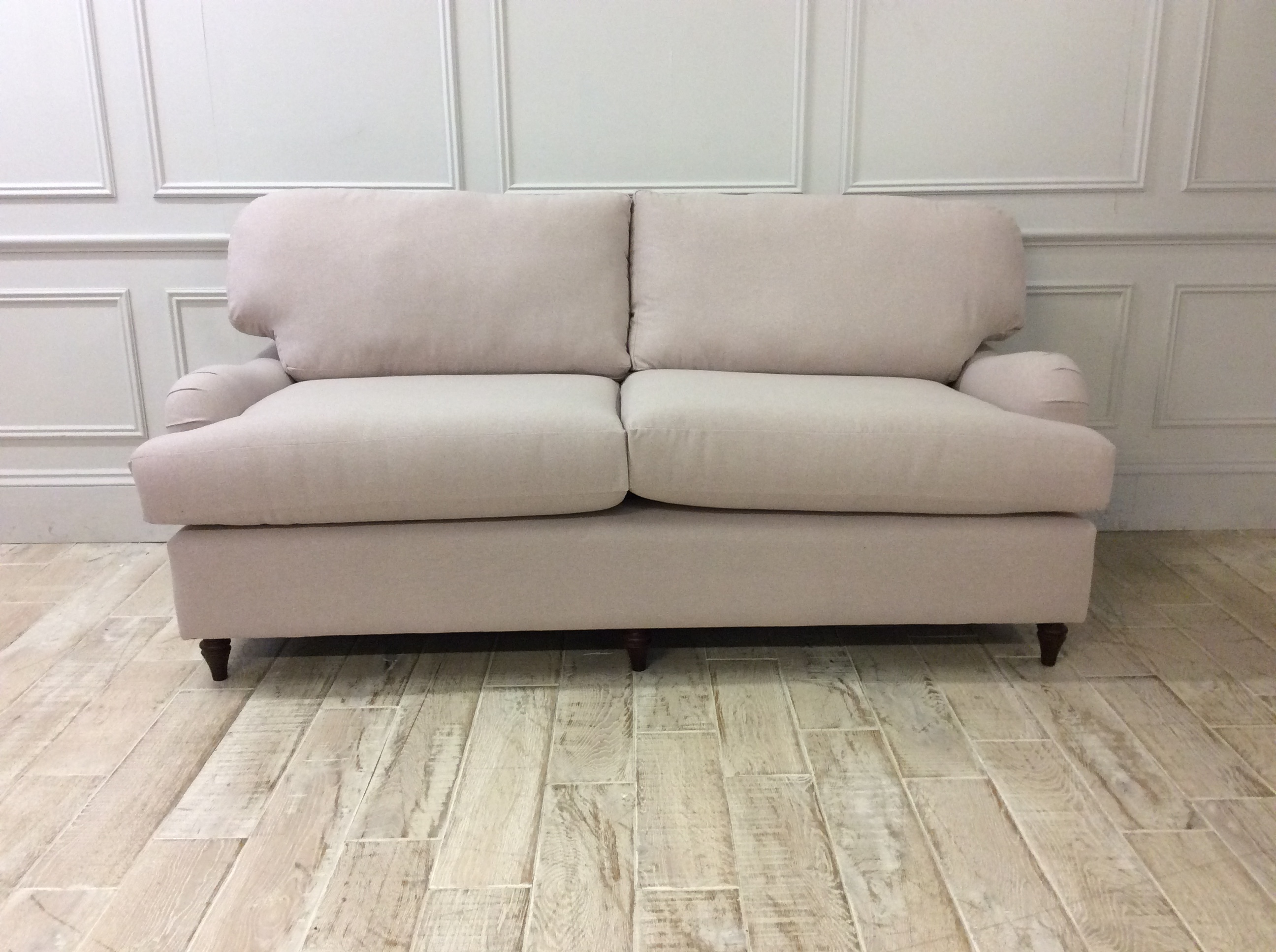 Product photograph showing Helston 3 5 Seater Sofa In House Wool Parchment