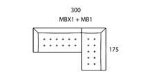 Morellia Modular 4x1 Right Sided Corner Sofa