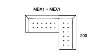 Morellia Modular 4x2 Right Sided Corner Sofa