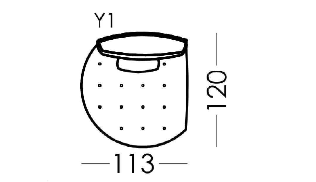 Alice Modular Curved End Unit - Left