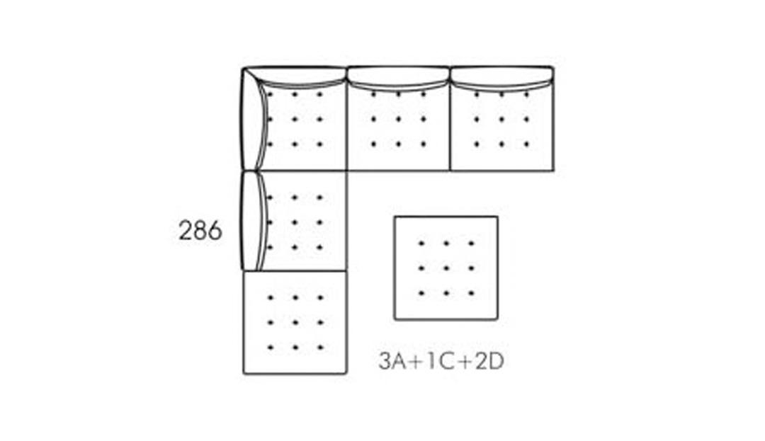Product photograph showing Alice Modular Medium Corner Sofa 3xa C 2xd