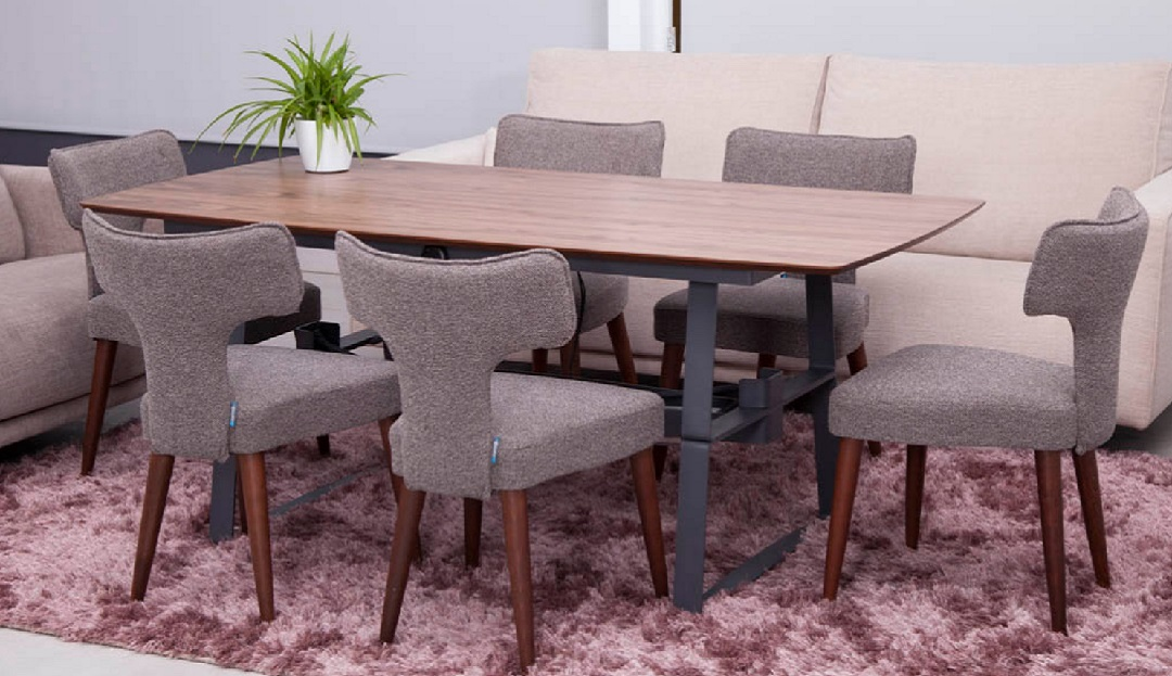 Bazille Adaptable Dining Table with Millie Dining Chairs
