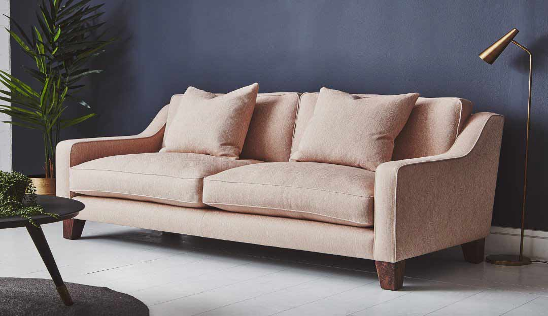 The Banbury Large Sofa in Stain Resistant Textured Linen Nude