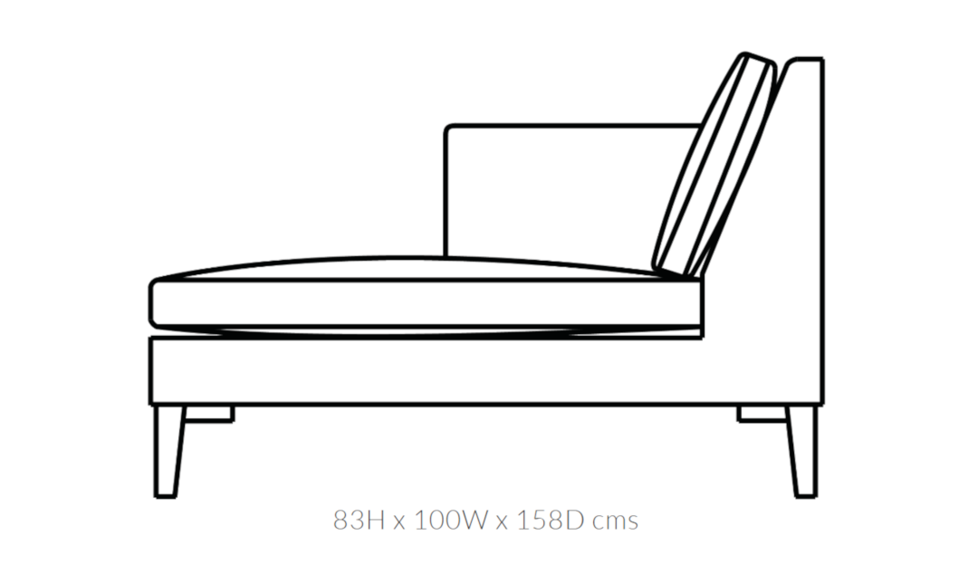 Product photograph showing Domus Soho Lounger Unit