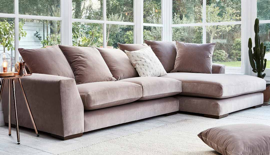 Product photograph showing Devon Chaise Sofa