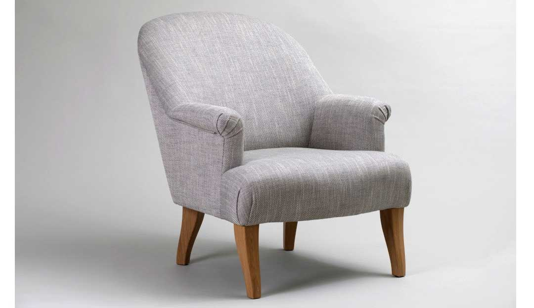 Darley Chair shown in Icon Silver with weathered oak legs