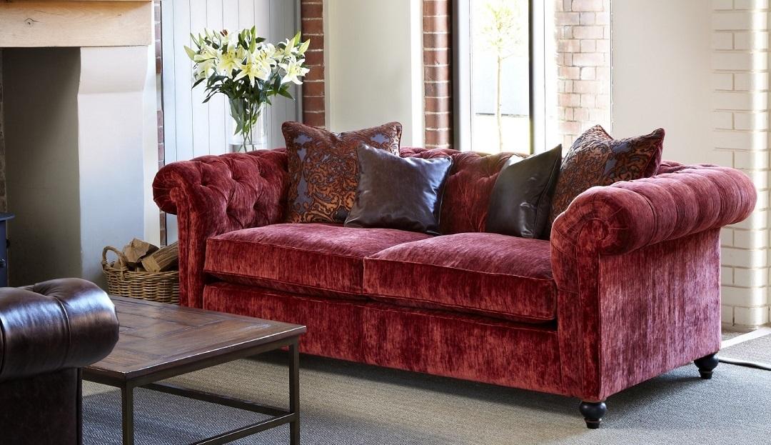 Product photograph showing Duresta Connaught Fabric Medium Sofa
