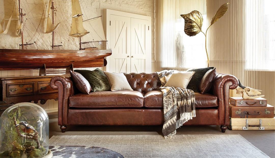Duresta Connaught Leather Grand Sofa