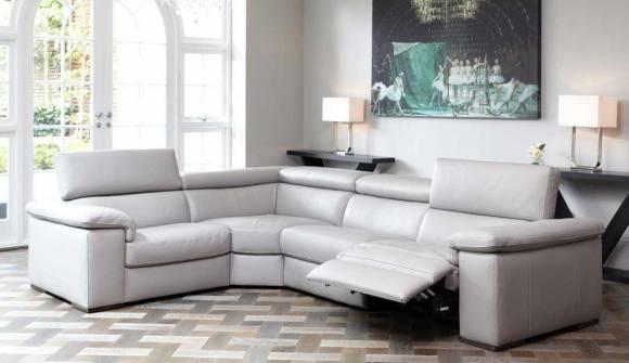 Fabio Corner Sofa in 20JK Leather