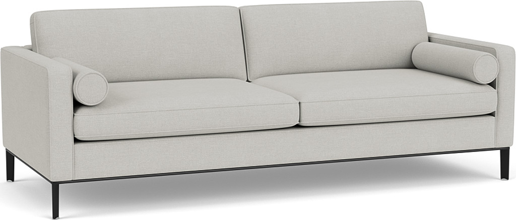 the Brooklyn grand sofa in easy clean soft as cotton cambridge blue with black chrome feet