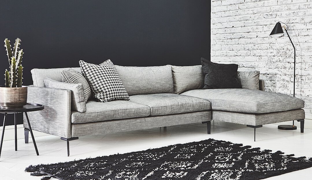 Product photograph showing Domus Soho Chaise - Right