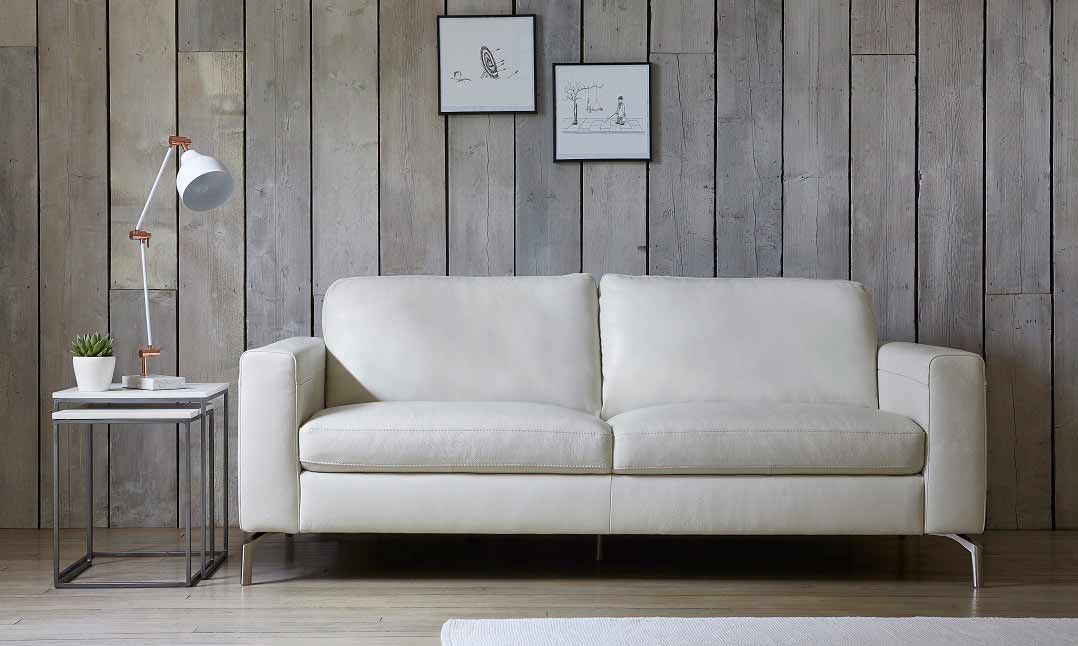 Elena 3 Seater in 10BL White Leather