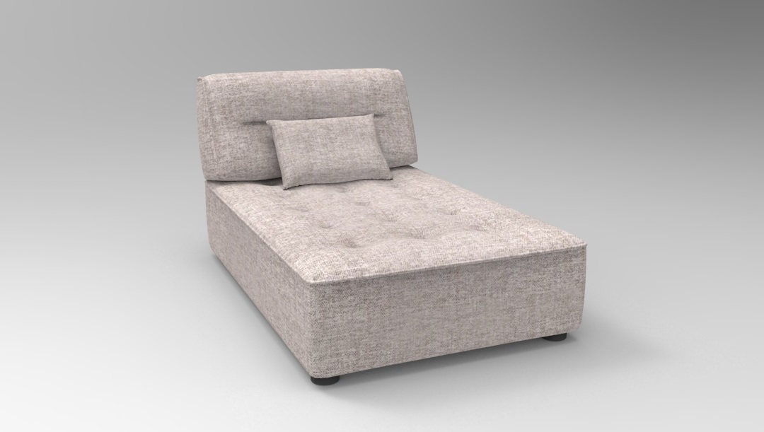 Product photograph showing Alice Modular Chaise Unit F