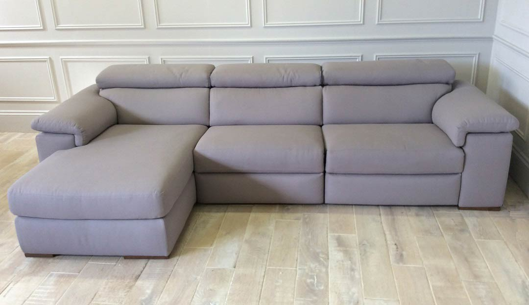 Fabio Chaise Sofa with Left Chaise in Fabric (Discontinued Colour)