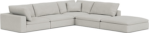 the feather extra deep large corner sofa in easy clean soft as cotton cambridge blue