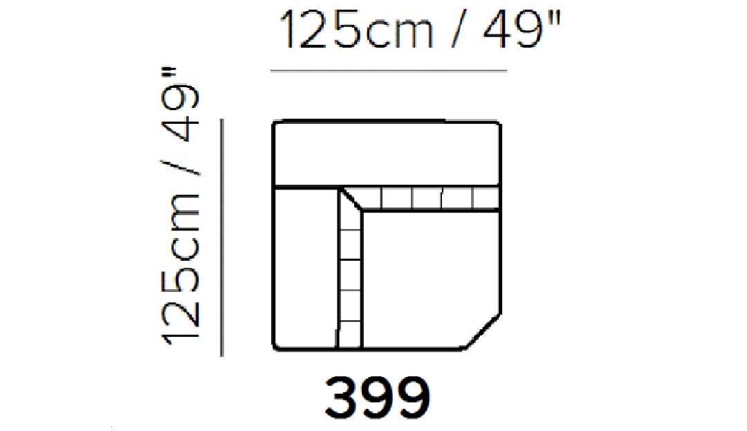 Florentina Square Corner Unit with Adjustable Headrests
