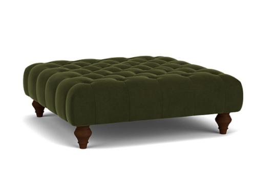 Charnwood Footstool in Easy Clean Plush Velvet Juniper