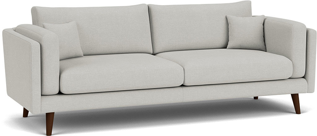 the brighton large sofa in easy clean sofa as cotton cmabridge blue with dark oak feet