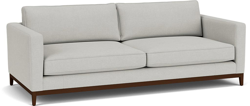 the darwin grand sofa in easy clean soft as cotton cambridge blue with dark oak feet TTT