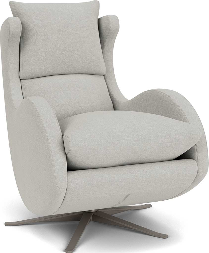 the enzo swivel chair in easy clean soft as cotton cambridge blue with chrome feet