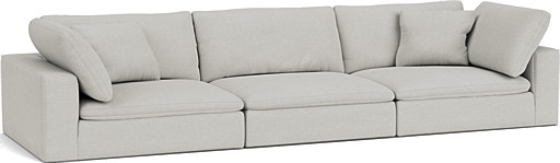 the feather extra deep 5 seater sofa in easy clean soft as cotton cambridge blue