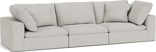 the feather standard depth 5 seater sofa in easy clean soft as cotton cambridge blue