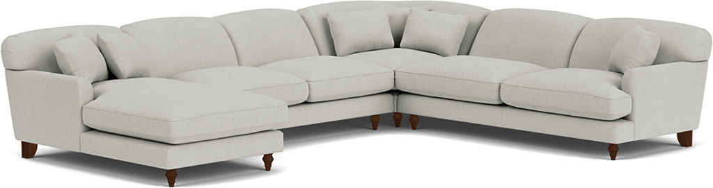 Product photograph showing Galloway U-shaped Sofa With Left Or Right Chaise