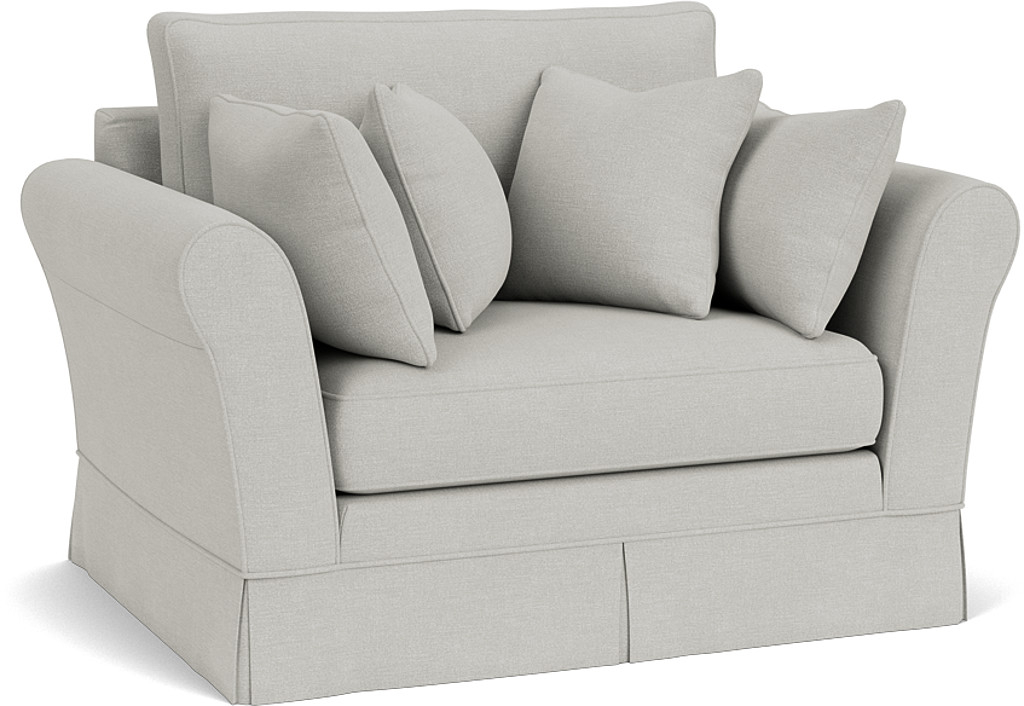 the jude snuggler in easy clean soft as cotton cambridge blue