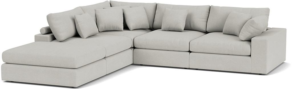 the haymarket extra deep large corner sofa in easy clean soft as cotton cambridge blue