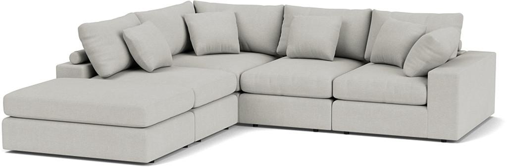 the haymarket standard large corner sofa in easy clean soft as cotton cambridge blue