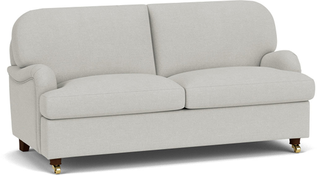 the helston 3 seater sofa in easy clean soft as cotton cambridge blue with dark oak feet