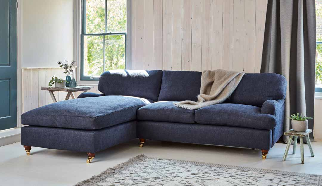Product photograph showing Helston 2 Seater Chaise Sofa Bed