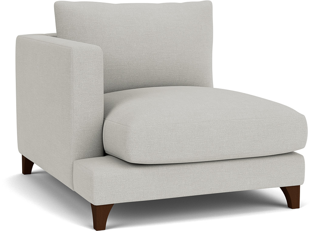 Product photograph showing Holland Small Love Seat Unit With 1 Arm