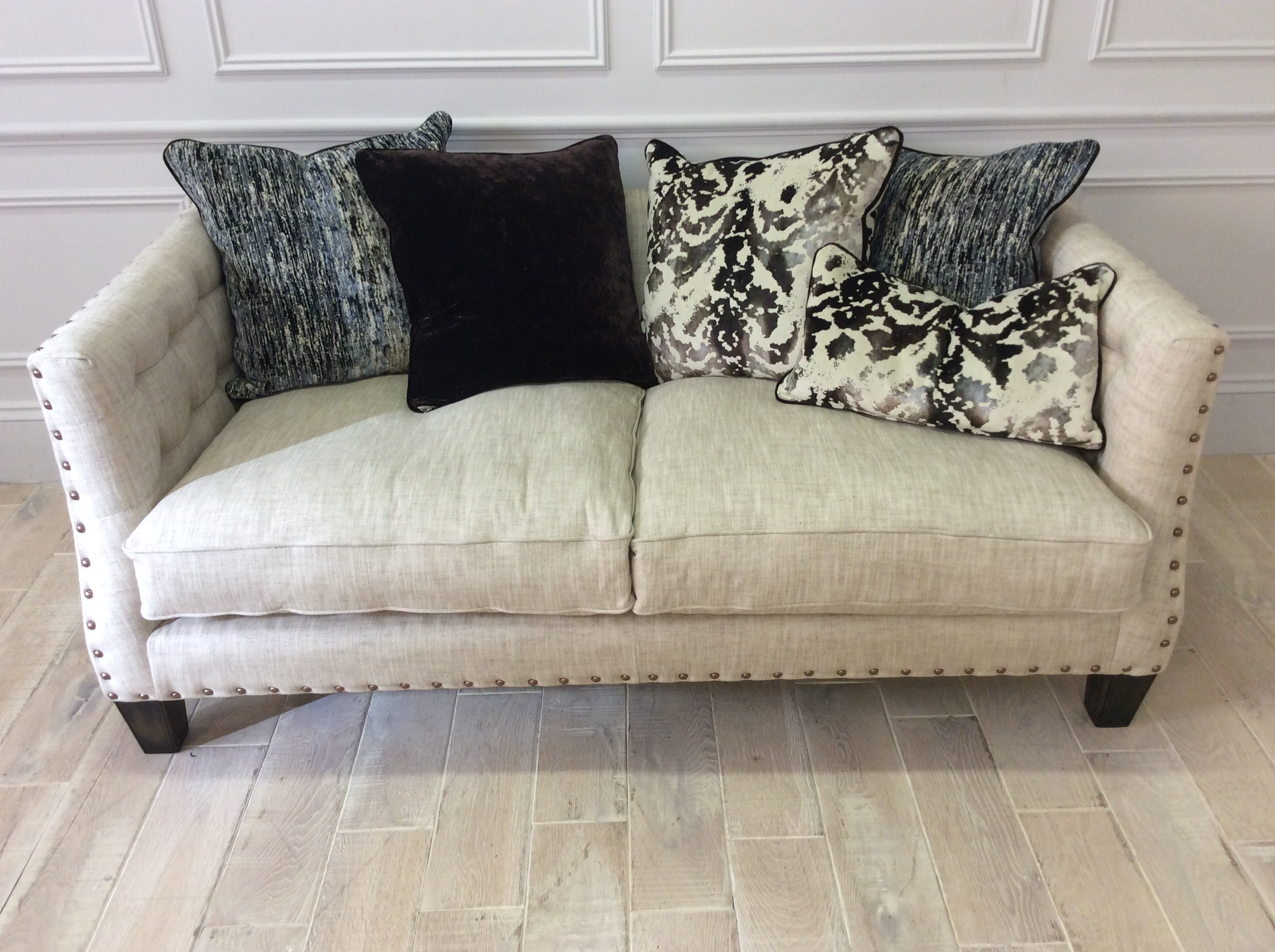 Product photograph showing Coworth Pillow Back Medium Sofa