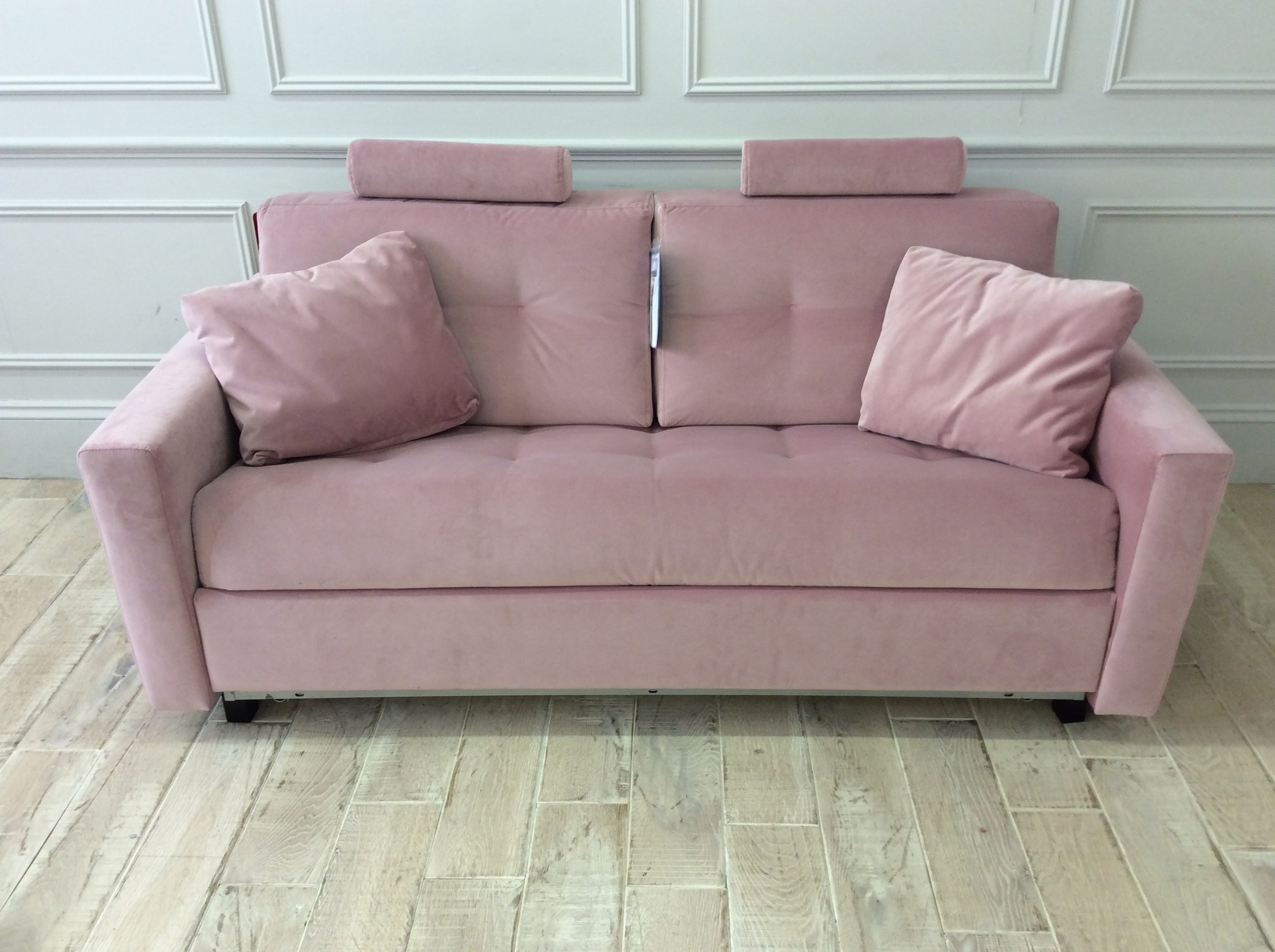 Product photograph showing Alexi 3 Seater Sofa Bed With Straight Arms