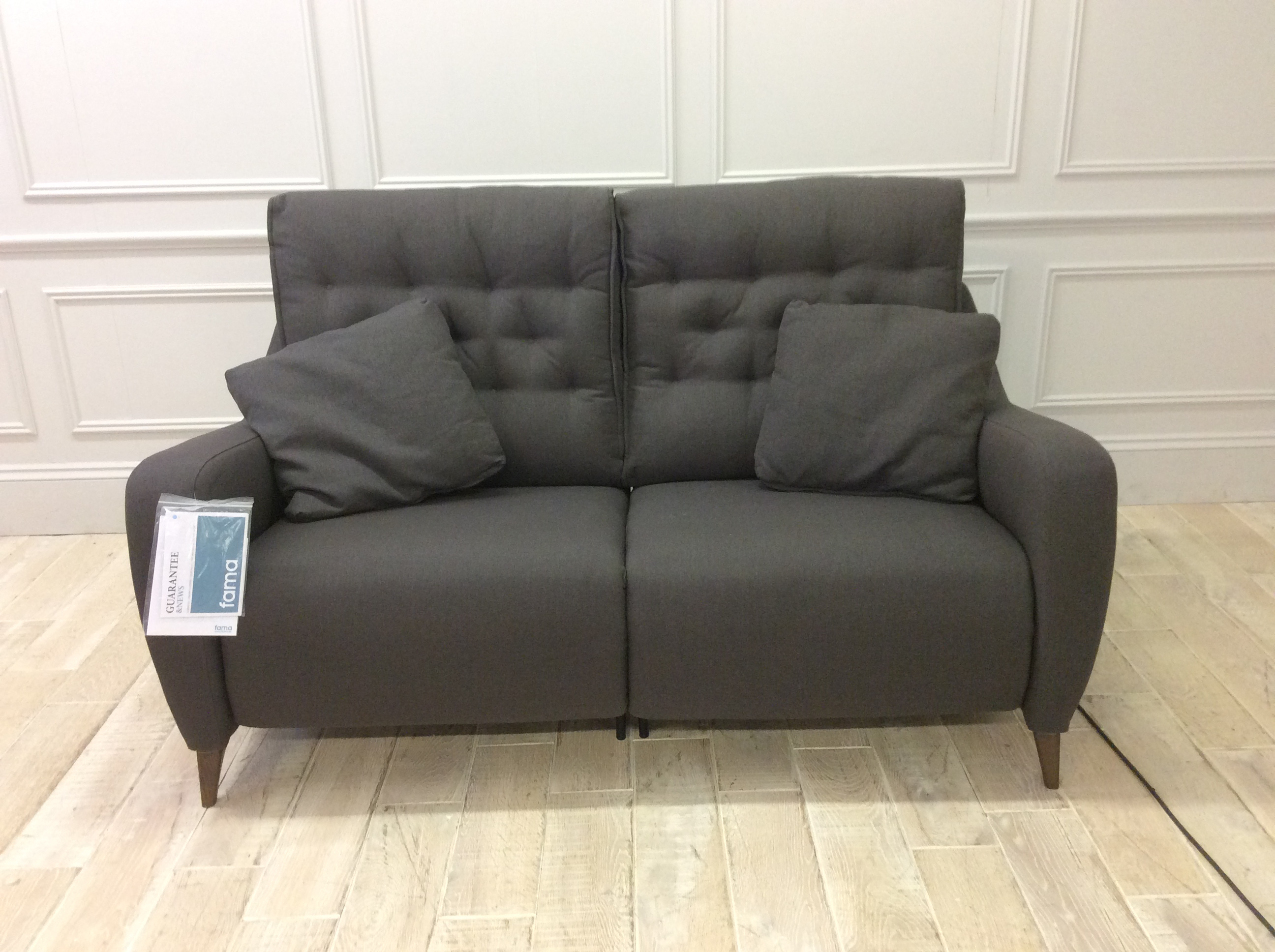 Product photograph showing Hugo Medium Sofa With Electric Recliners