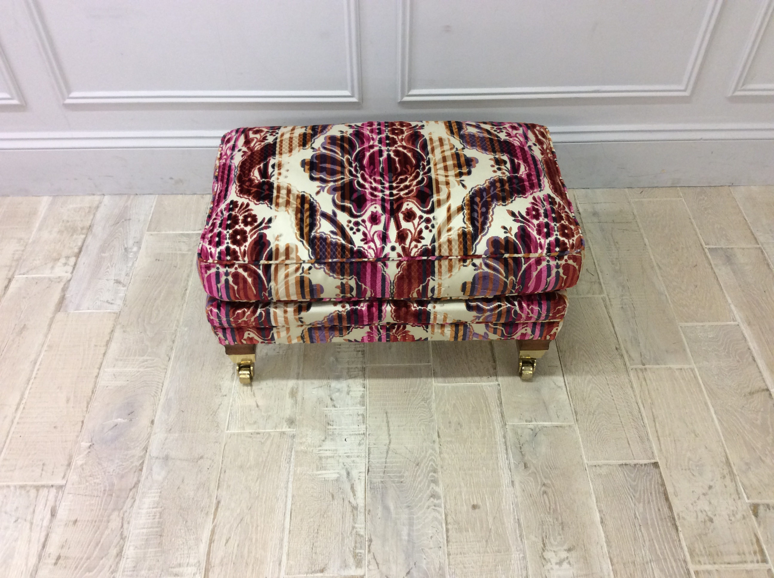 Product photograph showing Duresta Hardy Footstool In Bancroft Faberge R9