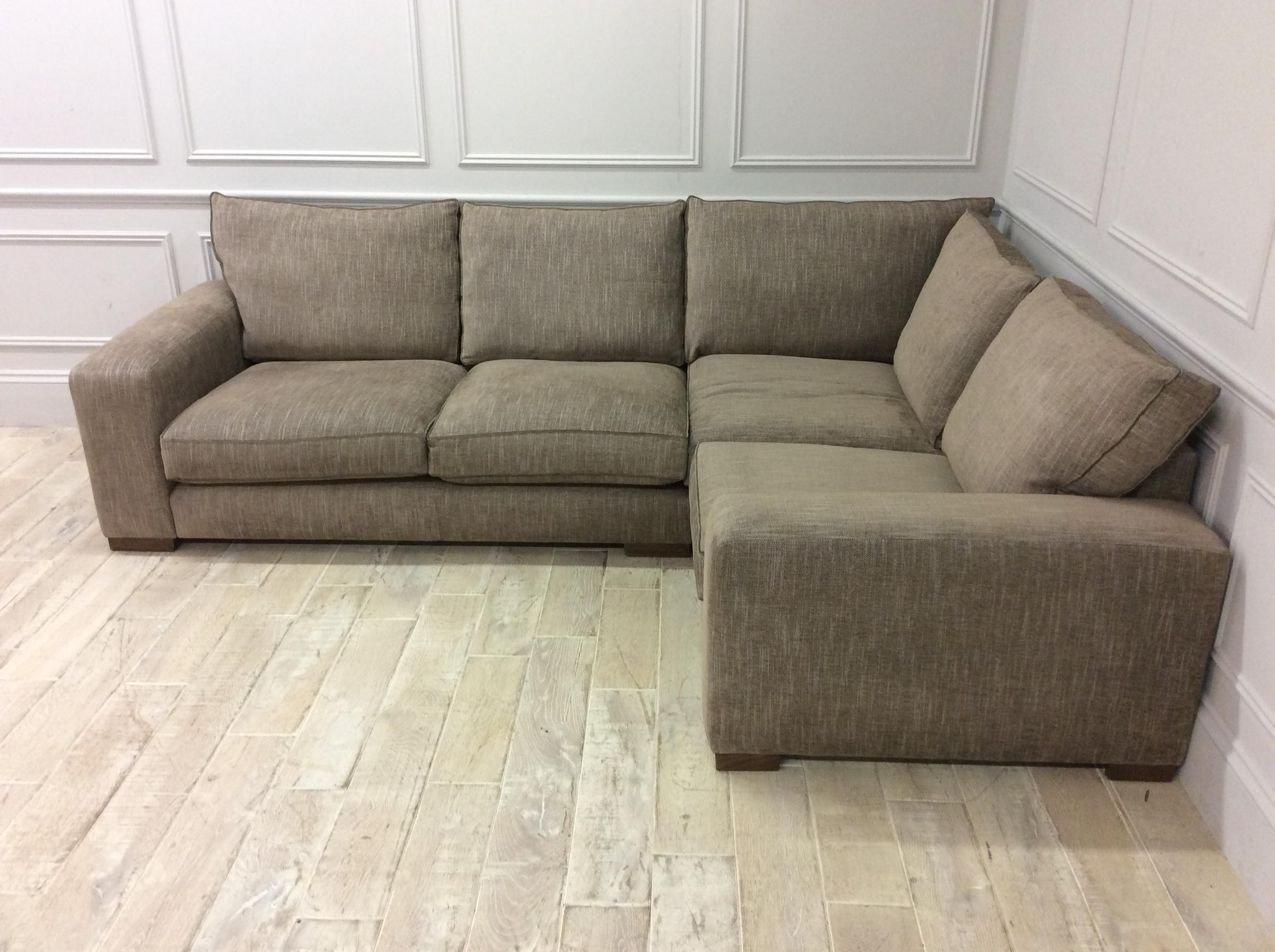 Product photograph showing Ashdown Medium Corner Sofa In Habitat Jute Fabric