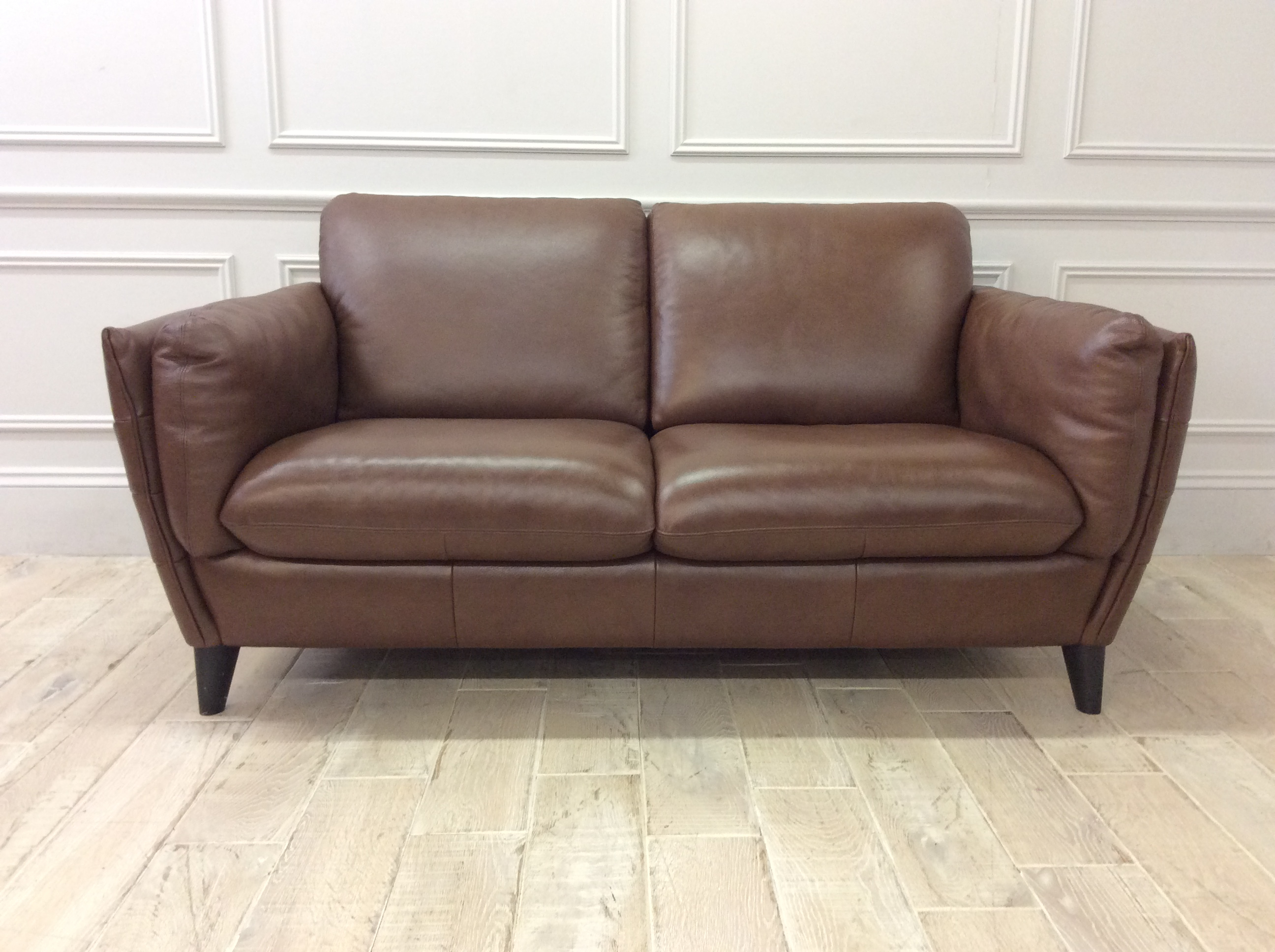 Product photograph showing Natalia 2 Seater Sofa In 15wb Leather