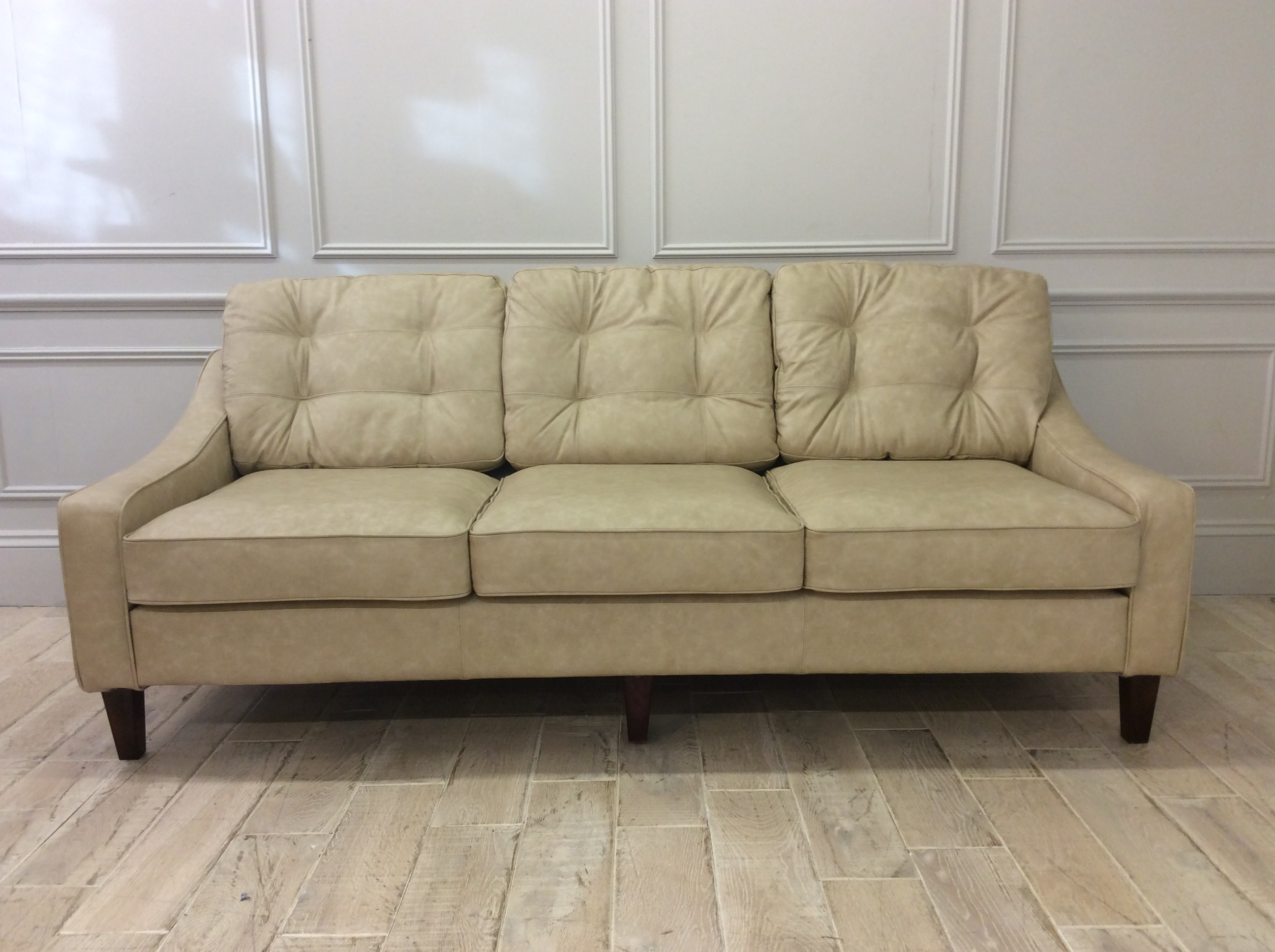 Product photograph showing Mayfair 4 Seater Sofa In Premium Apache Blush Leather