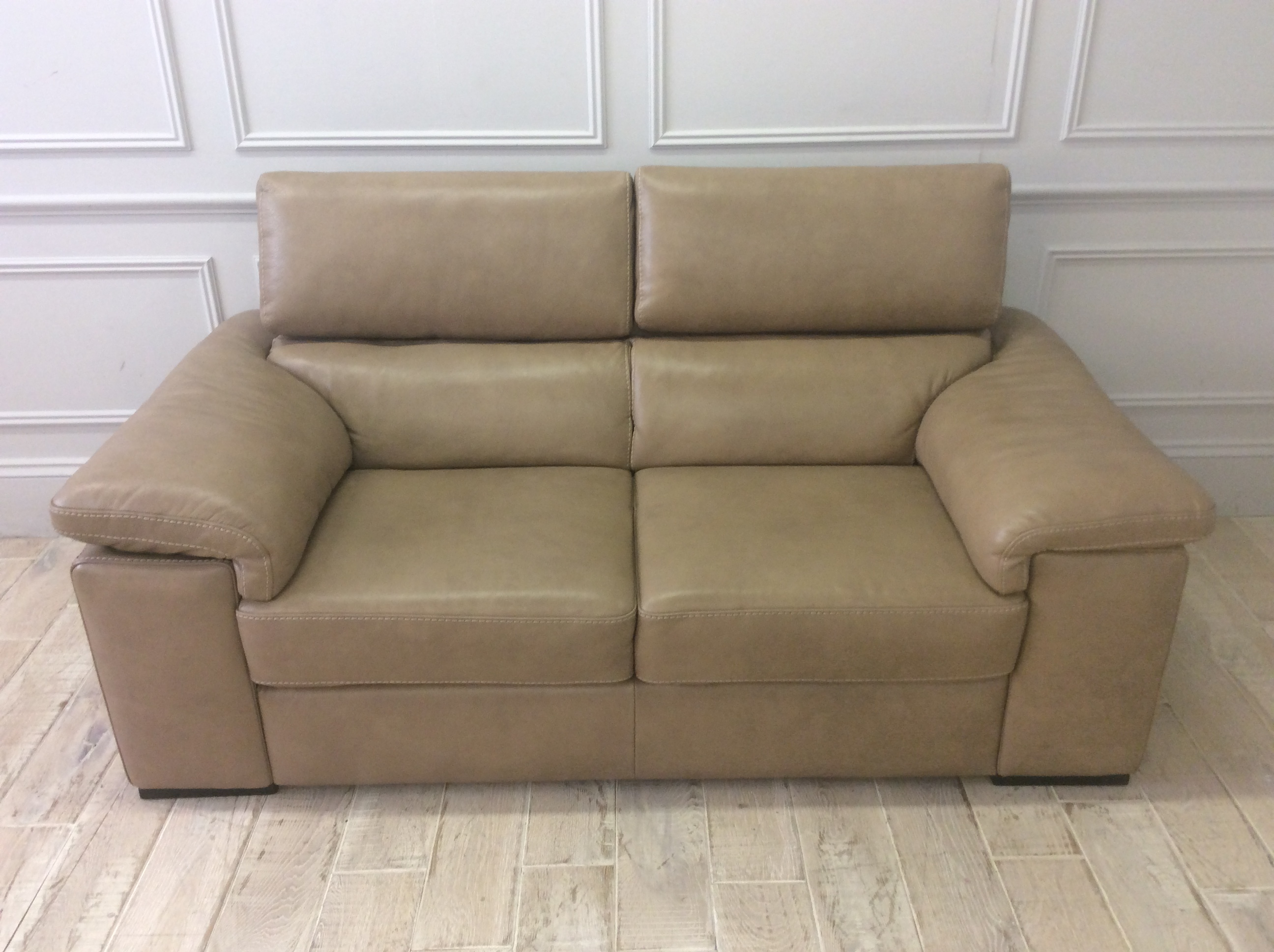 Product photograph showing Fabio 2 Seater Sofa In Italian 15wm Leather